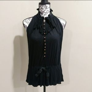 Theory Victorian Style Silk Blend Blouse